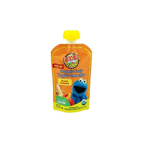Earth's Best Organic Peach Banana Fruit Yogurt Smoothie, 4.2 oz