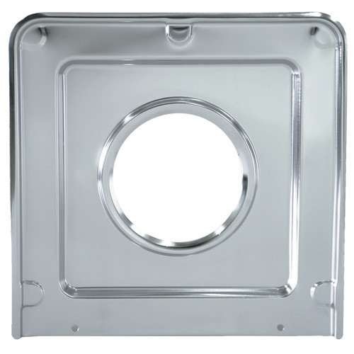 Range Kleen 1-Piece Drip Pan, Style J fits Square Burner Gas Ranges Frigidaire/GE/Hotpoint/Kenmore/RCA/Tappan/Chrome