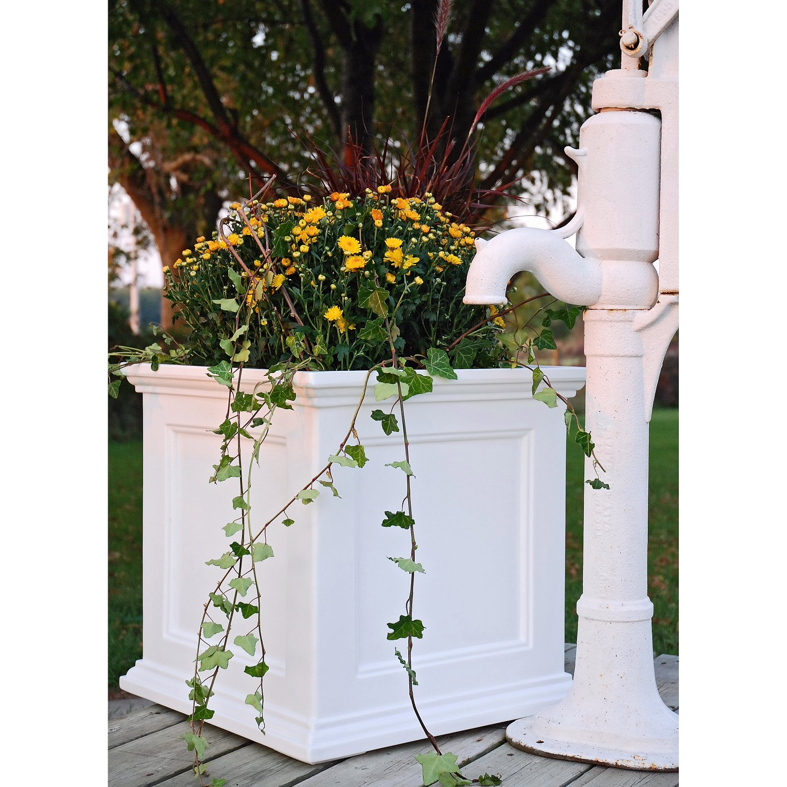 Fairfield Patio Planter 20x20 White by Mayne Inc.