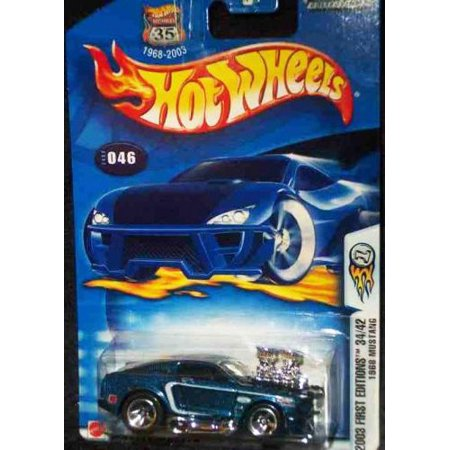 - Hot Wheels 2003 First Editions Blue 1968 Ford Mustang 1:64 Scale Collectible Die Cast Car #046