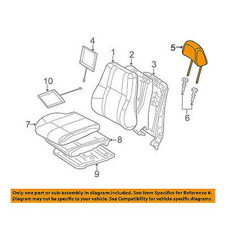 CHRYSLER OEM Front Seat-Headrest Head Rest 5PN14HL1AA