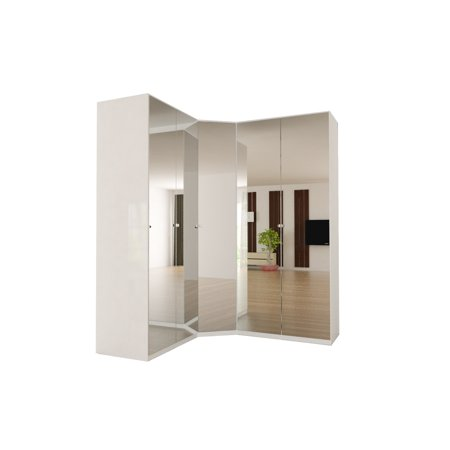 new style bd875 0034e Corner Wardrobe 91 Inch with Swing Doors