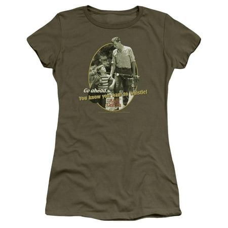 Andy Griffith - Gone Fishing - Juniors Teen Girls Cap Sleeve Shirt - XX-Large thumbnail
