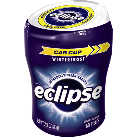 Eclipse Sugar Free Winterfrost Big E Pak Chewing Gum  60 Ct