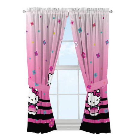 Hello Kitty 'Hello Ombre' Microfiber Window Panels