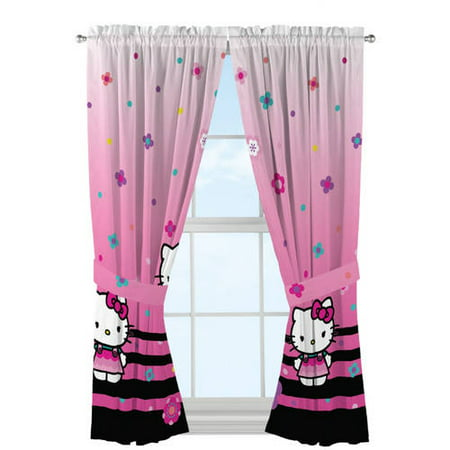 Hello Kitty Hello Ombre Girls Bedroom Curtain Panels
