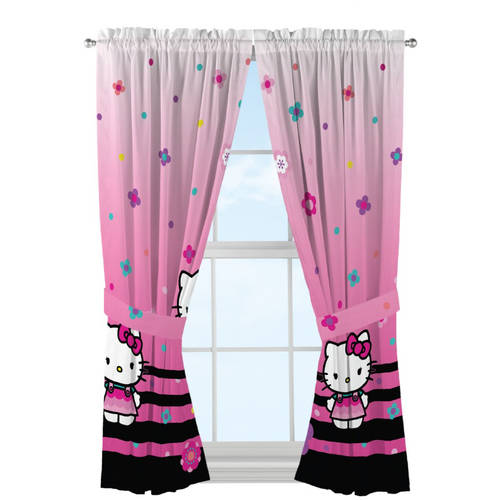 Hello Kitty 'Hello Ombre' Microfiber Window Panels