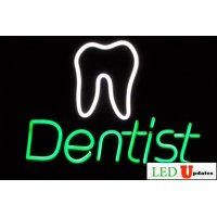 "Dentist Neon LED Sign 23"" x 17"" + on/off switch UL power supply Neon Alternative"