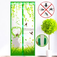 4 Colors 36x83 inch/39x83 inch Magnetic Door Curtain Mesh Screen Magic Closer Automatically Shut Down Door Curtain Mesh Screen