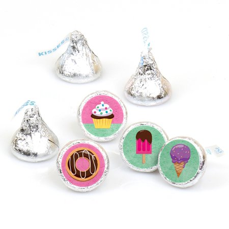 Sunshine Shoppe Supply (Sweet Shoppe - Candy and Bakery Birthday Party or Baby Shower Candy Sticker Favors - Labels Fit Hershey's Kisses-108)