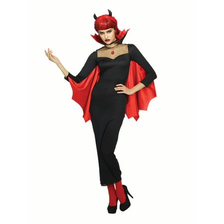 Horror Women Devil Dress Costume with Red Batman Wing Halloween Cosplay Outfit