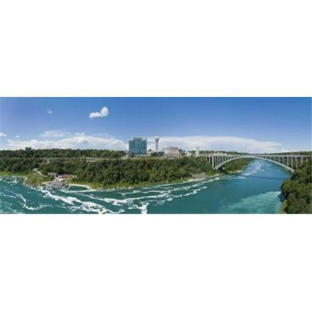 Arch bridge across a river  Rainbow Bridge  Niagara River  Niagara Falls  Ontario  Canada Poster Print by  - 36 x 12