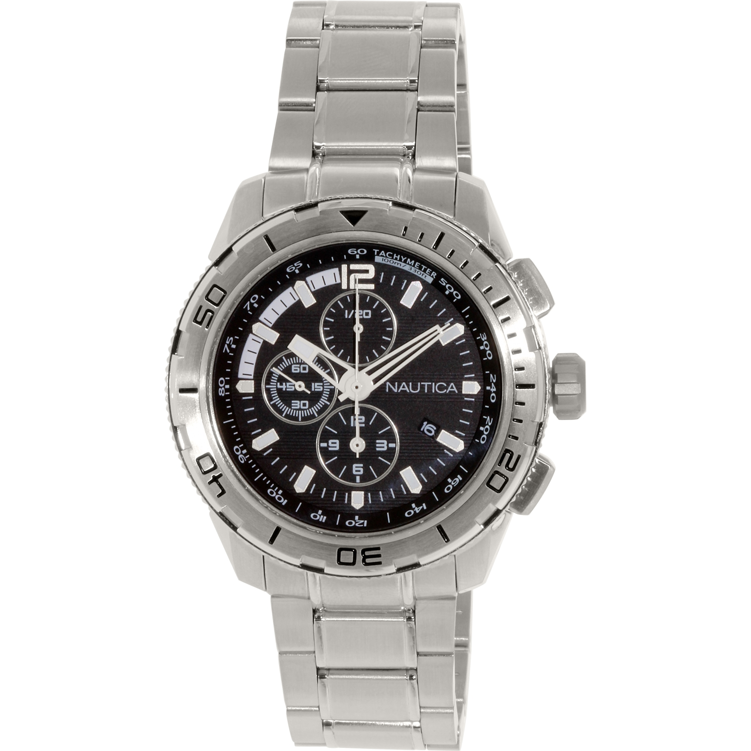 Nautica Men's N22637G Silver Stainless-Steel Quartz Fashion Watch by Nautica