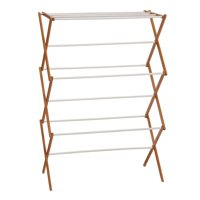 Household Essentials Collapsible Bamboo Clothes Drying Rack