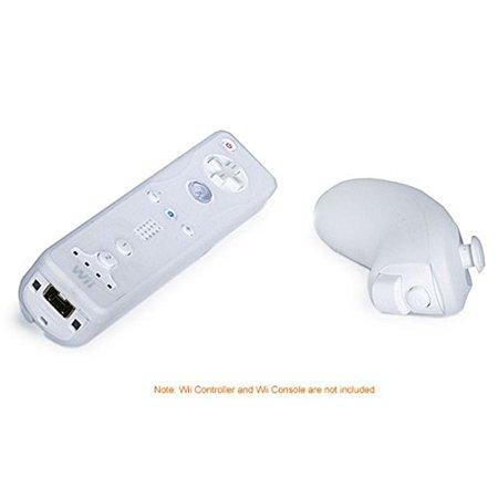 Nintendo Wii Control - Monoprice Silicone Skin for Wii Remote Control and Nunchuk - White