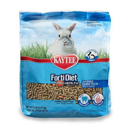 forti Diet Pro Health Rabbit Food for Juvenile Rabbits, 5-Pound, Higher protein formula designed for growing and breeding rabbits By Kaytee - Rabbit's Foot For Sale