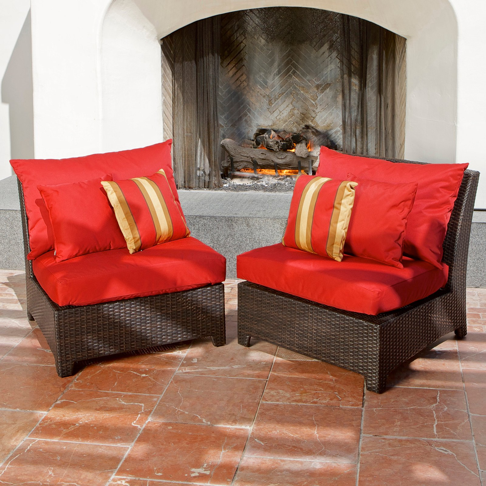 RST Outdoor Cantina Armless Chair - Set of 2