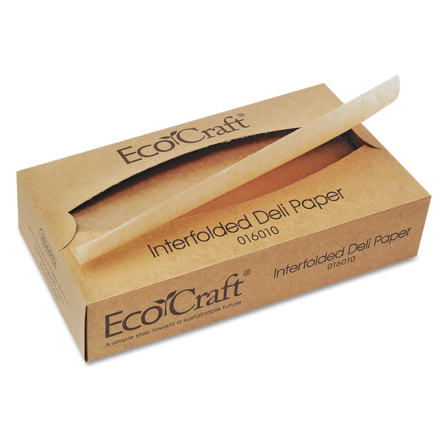 Bagcraft EcoCraft Interfolded Soy Wax Deli Sheets, 10 x 10 3/4, 500/Box, 12 Boxes/Carton -BGC016010