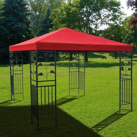 10'x10' Red Gazebo Canopy UV Blocking Cover Replacement Patio