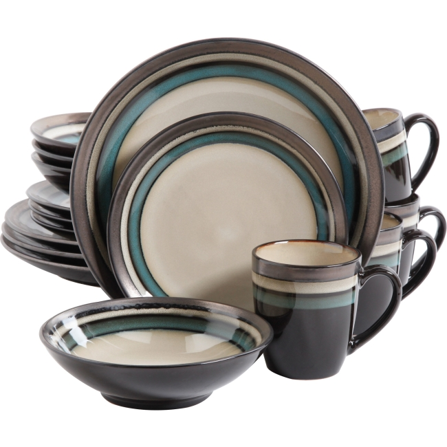 Gibson Elite Lewisville 16 Piece Dinnerware Set Teal - 10.75  Diameter Dinner Plate  sc 1 st  Walmart & Gibson Elite Lewisville 16 Piece Dinnerware Set Teal - 10.75 ...