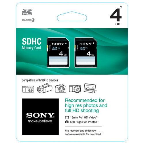 Sony 4GB SDHC Mobile Memory Card, 2pk