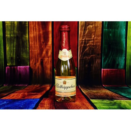 Canvas Print Valentine's Day Champagne Rotkäppchen Drink Bottle Stretched Canvas 10 x 14 (Valentine Drinks)