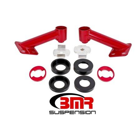 BMR SUSPENSION CB005R Chassis Stiffeners 15-17 Mustang Cradle Bushing Lockout Kit Suspension Bushing Kits