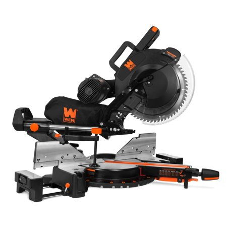 WEN 15-Amp 12-Inch Dual Bevel Sliding Compound Miter Saw with (Kobalt 10 15 Amp Laser Sliding Miter Saw)