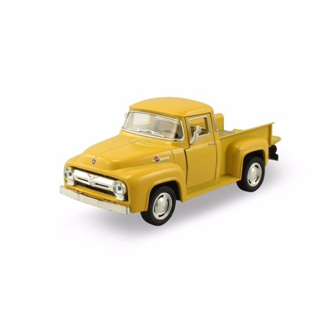 KINSMART DISPLAY 1:32 1956 FORD F-100 PICKUP YELLOW COLOR KT5385D NO RETAIL