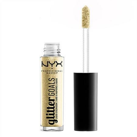 NYX Professional Makeup Glitter Goals Liquid Eyeshadow,Industrial Beam0.12 oz