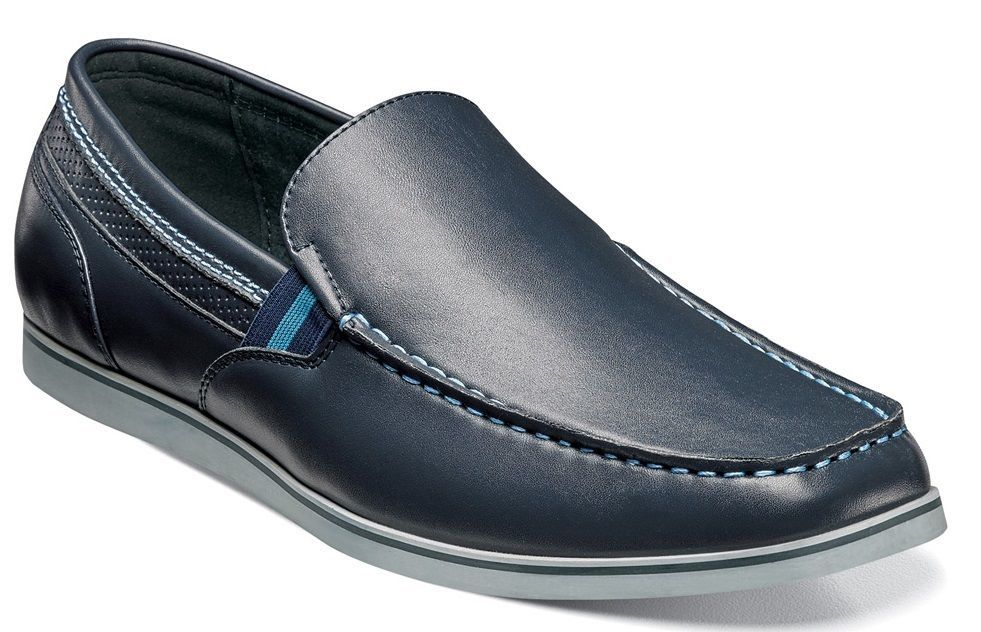 Stacy Adams COY Mens Navy Loafers by