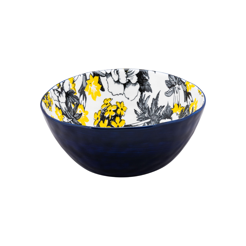 "Blue Chintz 9"" Porcelain Salad Bowl, Set of 2"