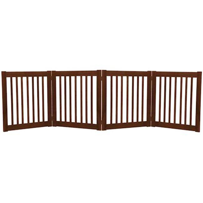 Essential Pet Products 42221 Small Four Panel Ez Pet Gate - Mahogany