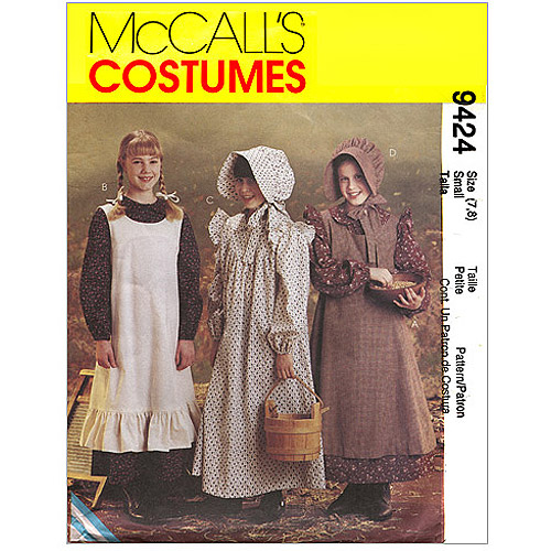 McCall's Girls' Pioneer Costumes, (M)