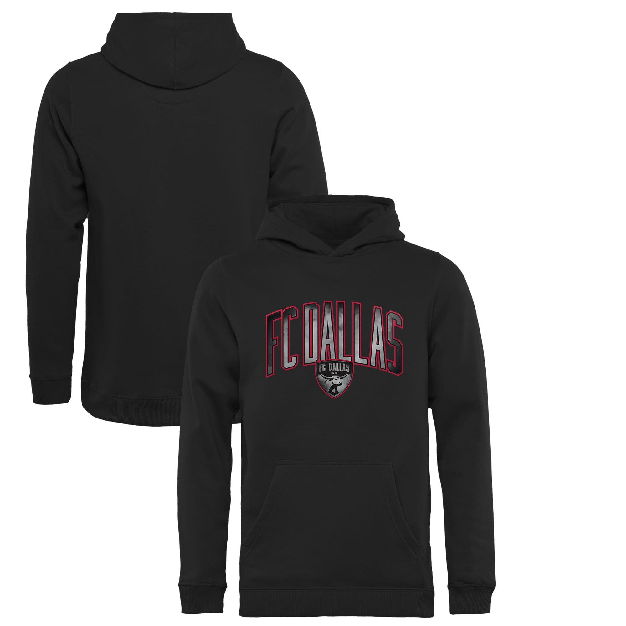 FC Dallas Fanatics Branded Youth Arch Smoke Pullover Hoodie - Black - Yth S
