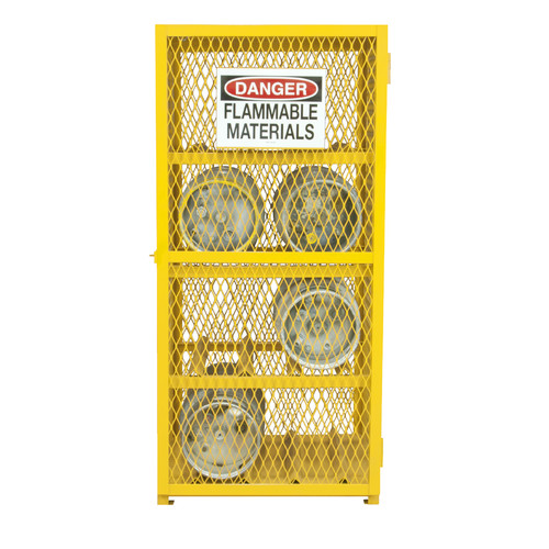 Durham Manufacturing 71.75'' H x 30'' W x 30'' D Steel and Iron Horizontal Cylinder Storage Cabinet