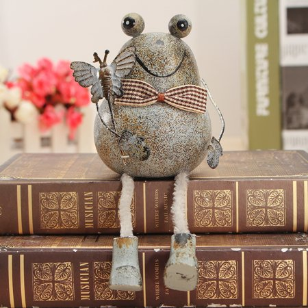 M.way Creative Pastorale Style Iron Art Frog Home Office Table Desk Decoration Toys