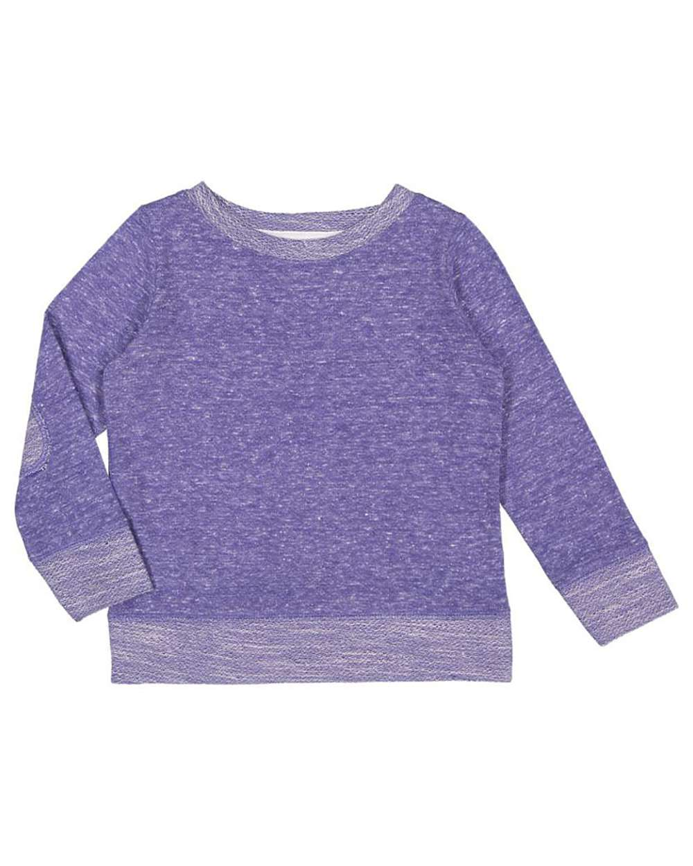 Rabbit Skins Toddler Harborside M/élange French Terry Long Sleeve Crew Neck with Elbow Patches