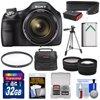 Sony Cyber-Shot DSC-H400 Digital Camera with 32GB Card + Case + Battery + Tripod + Strap + Tele/Wide Lens Kit
