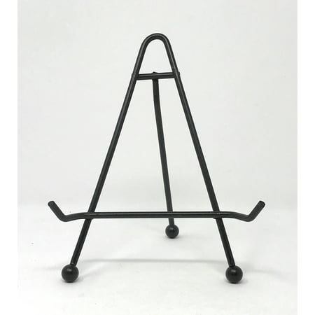 Black Wrought Iron Plate Easel Display Stand 6 Inch
