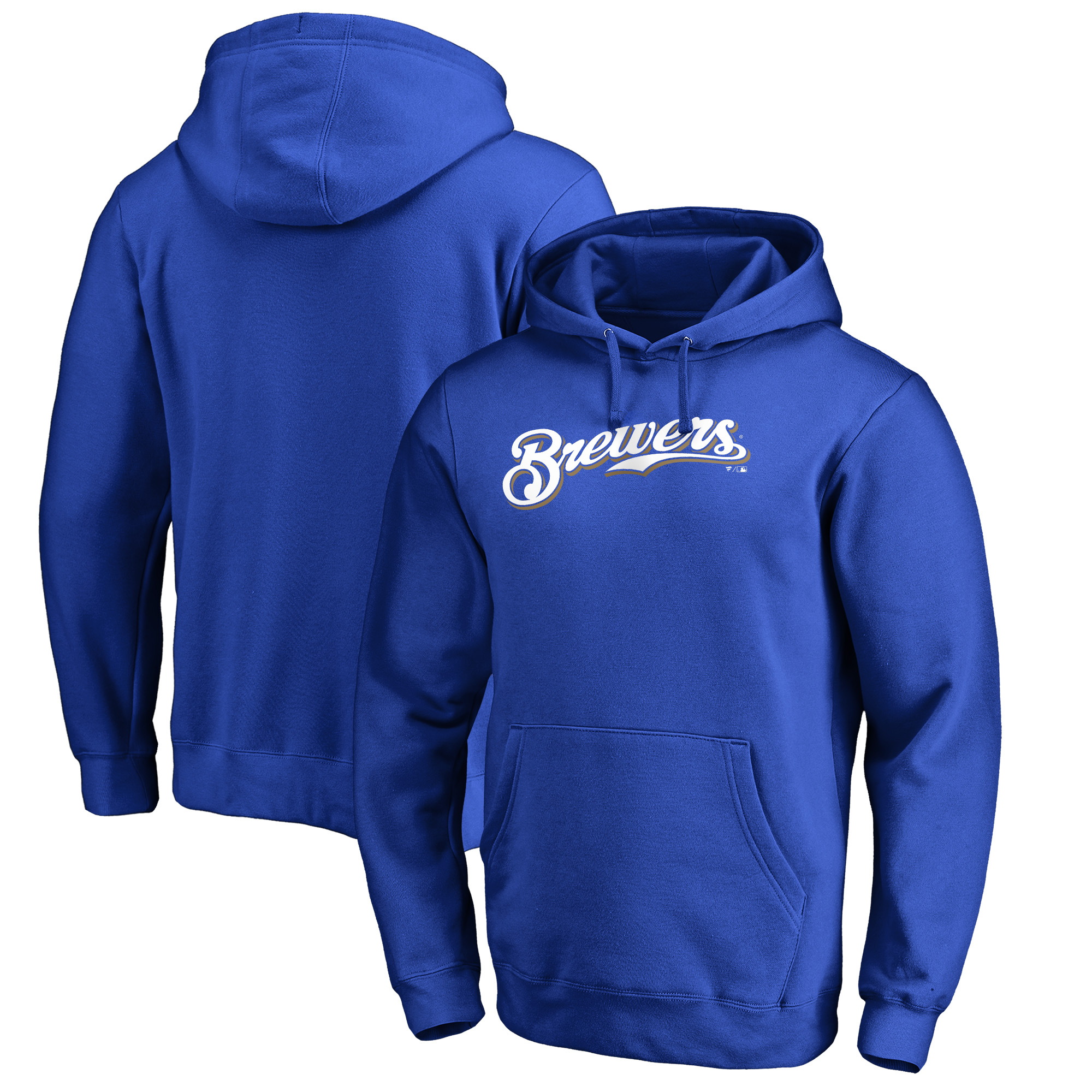 Milwaukee Brewers Fanatics Branded Team Wordmark Pullover Hoodie - Royal