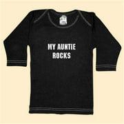 Rebel Ink Baby 392ls1824 - My Auntie Rocks - Black Long Sleeve T-Shirt - 18-24 Months