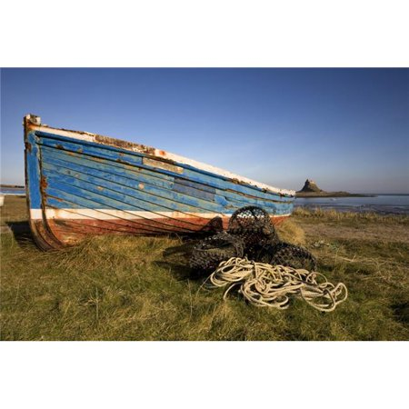 Posterazzi DPI1828389LARGE Weathered Fishing Boat On Shore Holy Island Bewick England Poster Print by John Short, 24 x 34 - Large - image 1 of 1