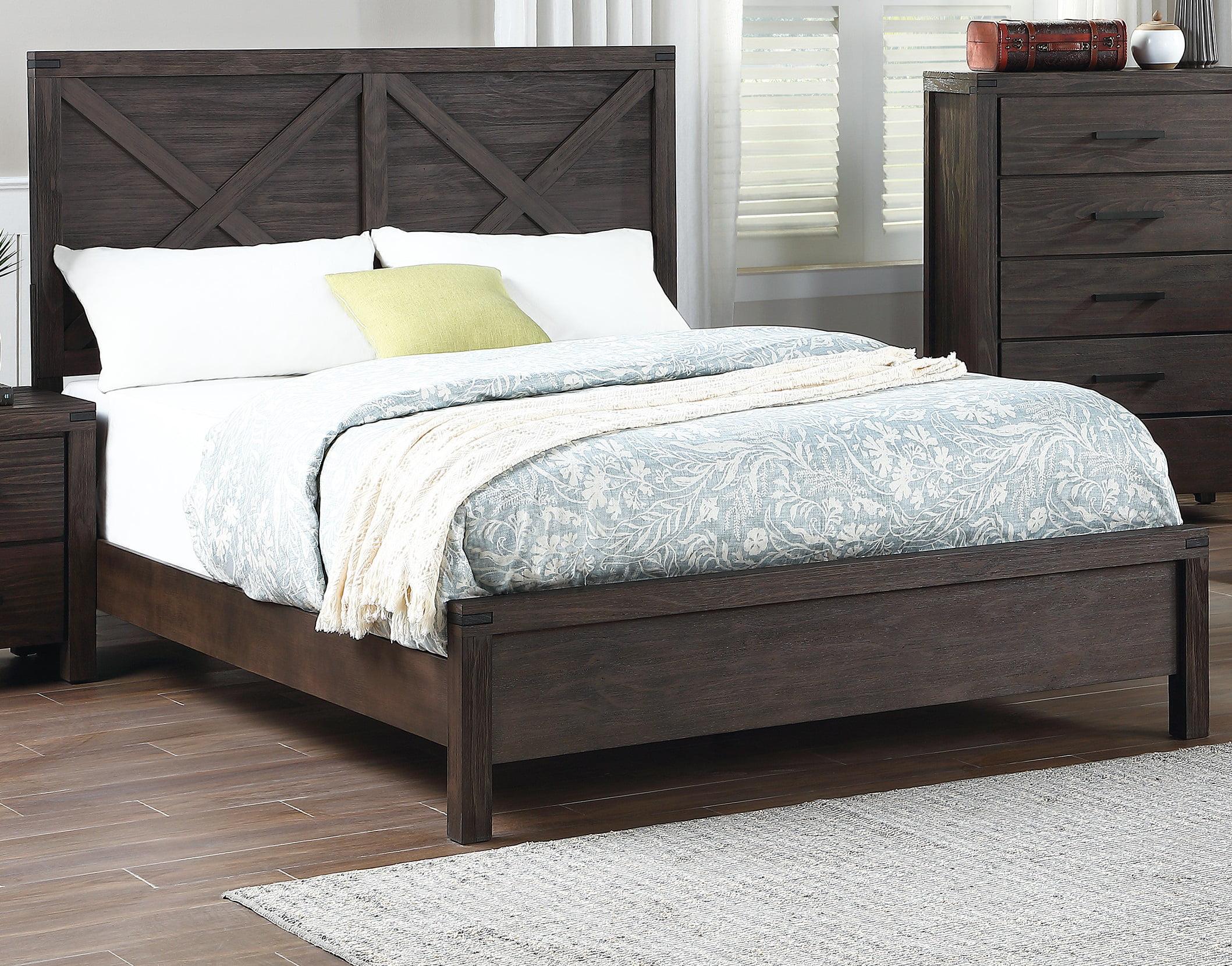Modern Contemporary Unique Headboard Design Eastern King Size Bed 1pc Bedroom Furniture Plywood Solid Wood Walmart Com Walmart Com