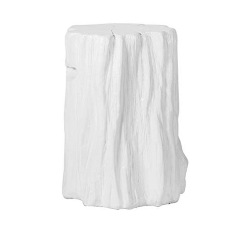 A&B Home Group D13x20 White Tree Trunk Stool ()
