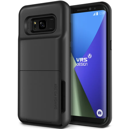 Samsung Galaxy S8 Plus Case Cover | Protective Wallet with Card Slots | VRS Design Damda Folder for Samsung Galaxy S8