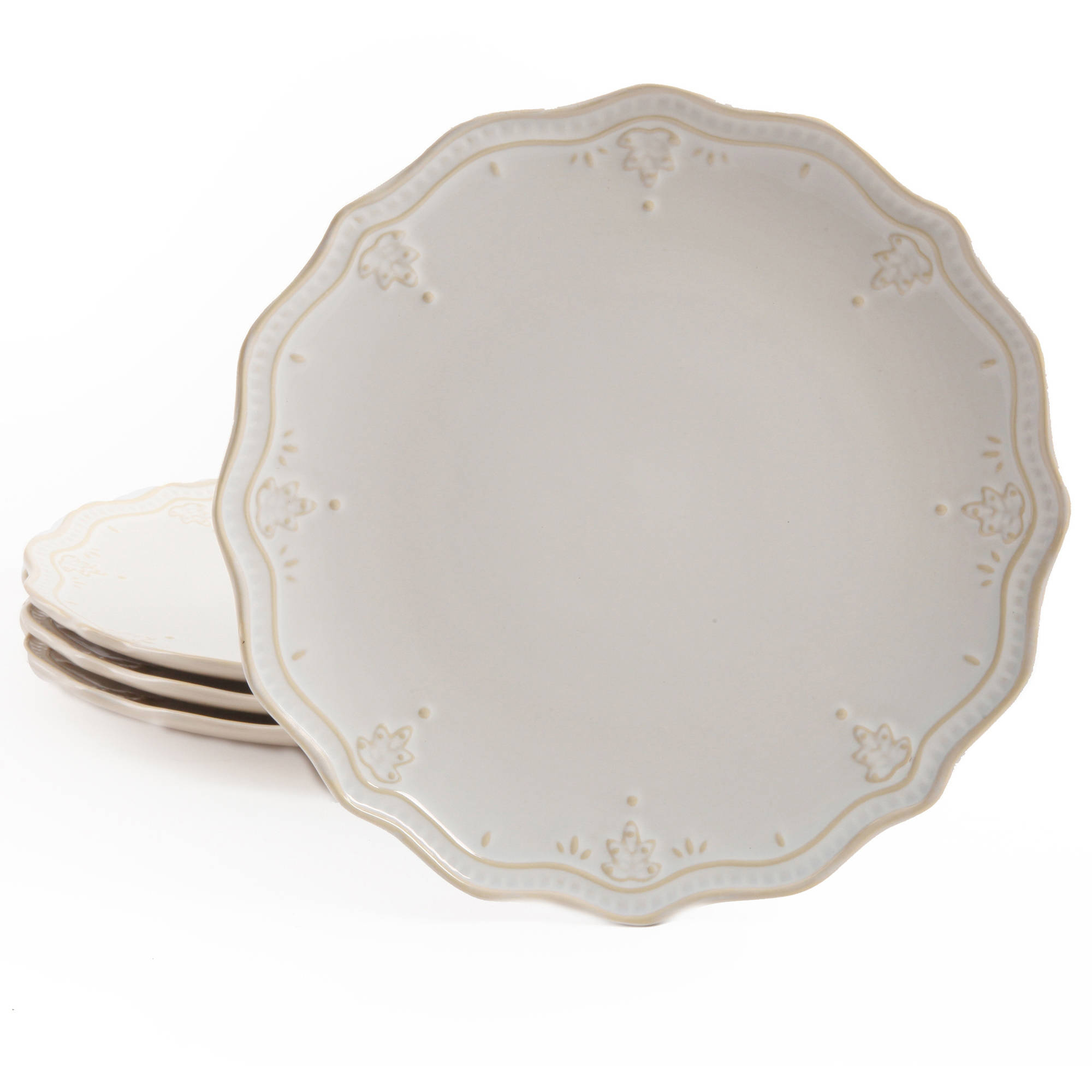 Exceptional The Pioneer Woman Farmhouse Lace Dinner Plate Set, 4 Pack   Walmart.com