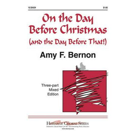 Halloween Piano Sheet Music Nightmare Before Christmas (On the Day Before Christmas-Ed Octavo - 3-pt mxd,Piano - Amy F Bernon - Sheet Music -)