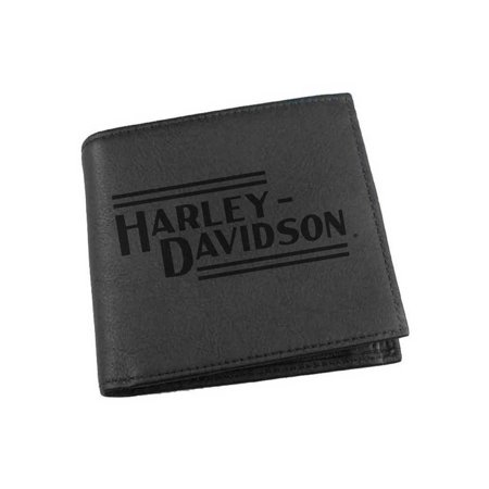 Harley-Davidson Mens Currency & Coin Leather Hipster Wallet IM2127L-BLACK, Harley Davidson Coastal Harley Davidson Leather