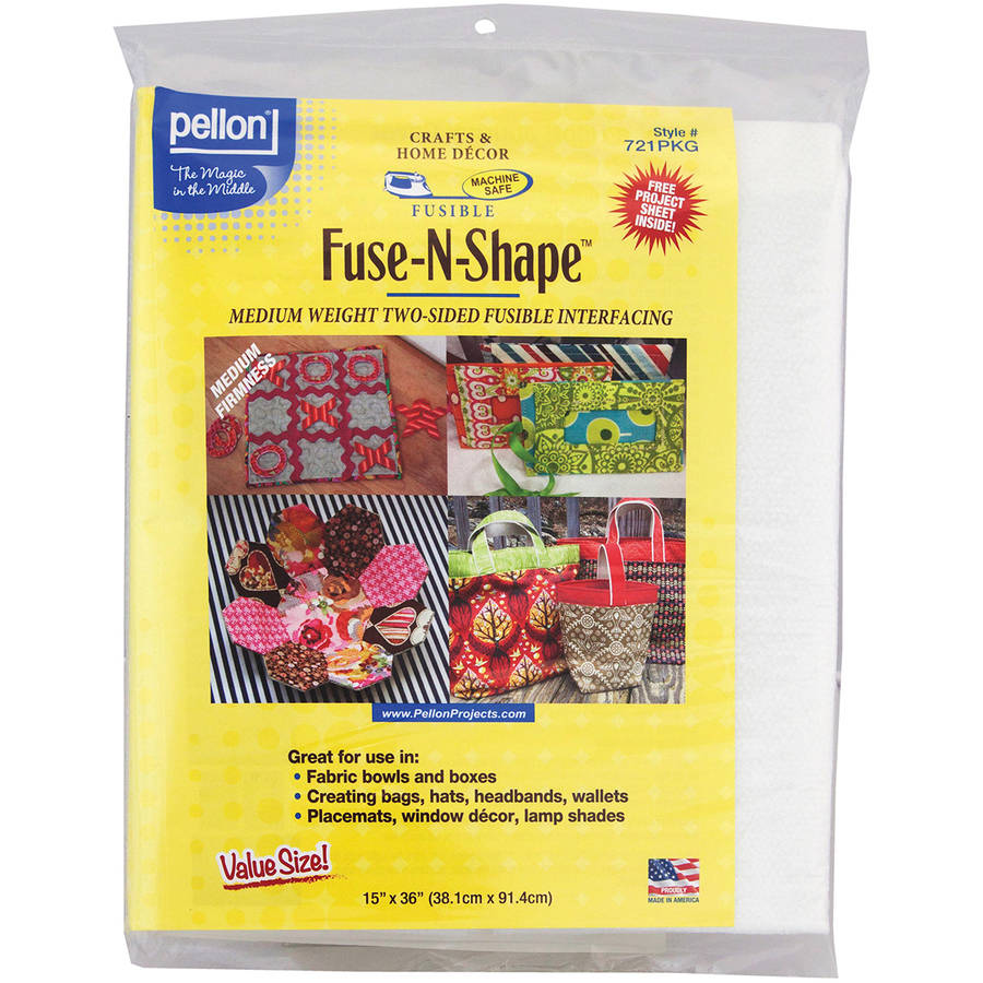 "Fuse-N-Shape Mediumweight Fusible Interfacing, White, 15"" x 36"""